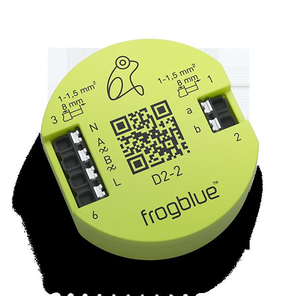 frogDim2-2 з двома регульованими виходами (кожен по 300 Вт) і двома входами для підключення кнопок або перемикачів